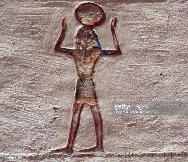 A photograph taken within Tomb KV1 located in the Valley of the Kings in Egypt used for the burial of Pharaoh Ramesses VII of the Twentieth Dynasty...