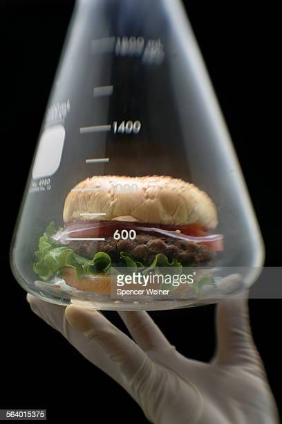 Photograph to illustrate a story in Health on efforts to actually grow meat in a lab known as ' In vitro meat' also known as laboratory–grown meat In...