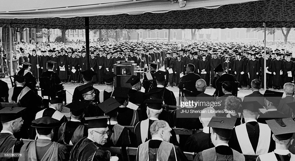 John Hopkins University Commencement 1967 : News Photo
