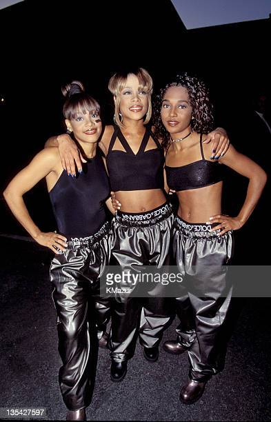 TLC photographed during the 1995 MTV Movie Awards Lisa Left Eye Lopes was killed in a car crash in the Honduras April 25 2002