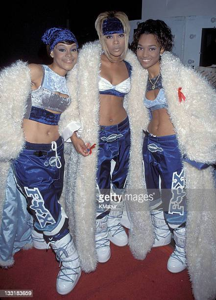 TLC photographed during the American Music Awards Lisa Left Eye Lopes was killed in a car crash in the Honduras April 25 2002