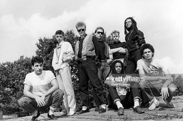 Photo of Robin CAMPBELL and Ali CAMPBELL and UB40 Back row LR Norman Hassan Robin Campbell Brian Travers Ali Campbell Astro Front LR Earl Falconer...
