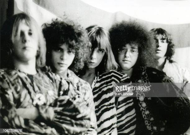 MC5 photographed in fancy costume backstage in Ann Arbor MI in 1969