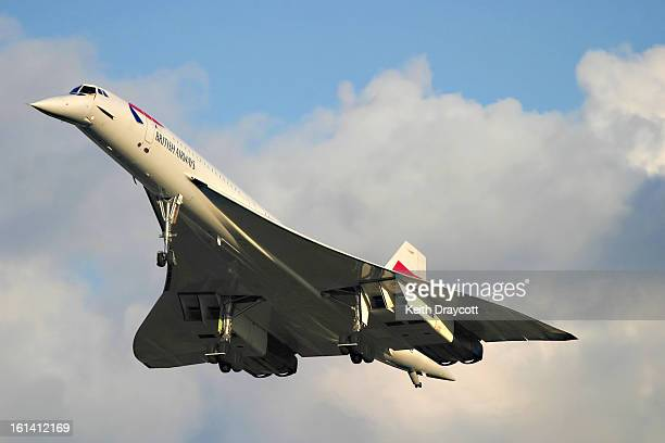 Photographed landing at London's Heathrow Airport on the final day of British Airways Concorde operations