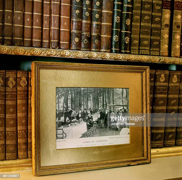 A photographed of King Edward VII's lunch table is photographed for Vanity Fair Magazine on June 27 2012 in Chichester England PUBLISHED IMAGE