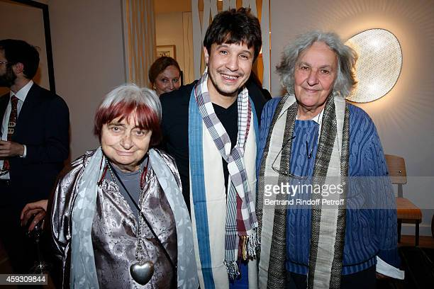Photographer Agnes Varda Contemporary artist Adel Abdessemed and Stage Director Ariane Mnouchkine attend Helene Cixous receives Insignia of Officer...