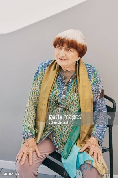 Photographer Agnes Varda is photographed for Self Assignment on May 20 2017 in Cannes France