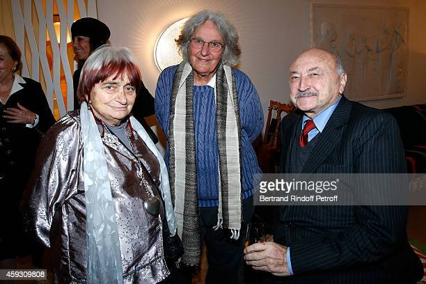 Photographer Agnes Varda Stage Director Ariane Mnouchkine and Lawyer Georges Kiejman attend Helene Cixous receives Insignia of Officer of the Legion...