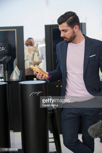 Photographer Alen Palander at the launch of the F1 fragrance at the Formula 1 Etihad Airways Grand Prix Yas Marina Circuit on November 30 2019 in Abu...