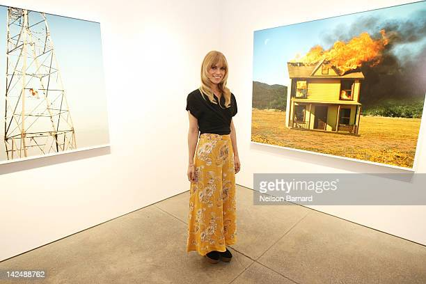 """Photographer Alex Prager attends her """"Compulsion"""" art exhibition opening at Yancy Richardson Gallery on April 5, 2012 in New York City."""