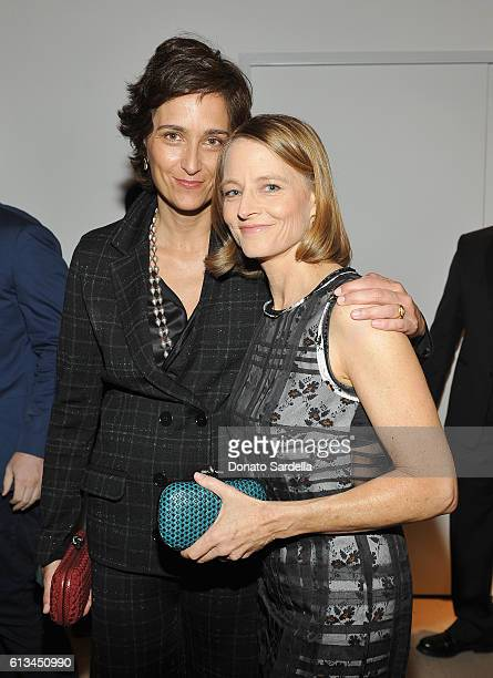 Photographer Alexandra Hedison and actress Jodie Foster, both wearing Bottega Veneta, attend the Hammer Museum 14th Annual Gala In The Garden with...