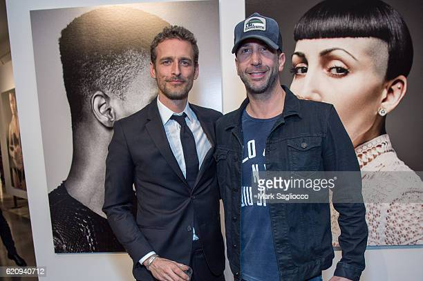 Photographer Alexi Lubomirski and Actor David Schwimmer attend 'Diverse Beauty' Book Launch Exhibition Opening at Milk Gallery on November 3 2016 in...