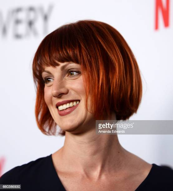 Photographer Alexis Mixter arrives at the premiere of Netflix's 'The Discovery' at the Vista Theatre on March 29 2017 in Los Angeles California