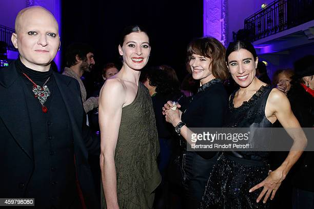 Photographer Ali Mahdavi Star dancer MarieAgnes Gillot Actress Fanny Ardant and Coreographer Blanca Li attend Maison Jean Paul Gaultier Hosts 'Le...