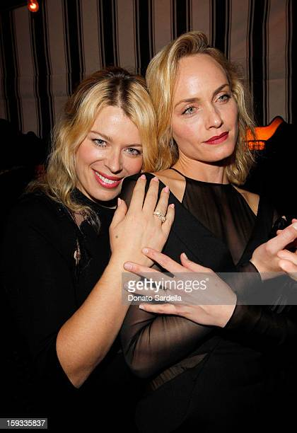 "Photographer Amanda de Cadenet and actress Amber Valletta attends W Magazine's 'Best Performances Issue"" and the Golden Globe Awards celebration with..."