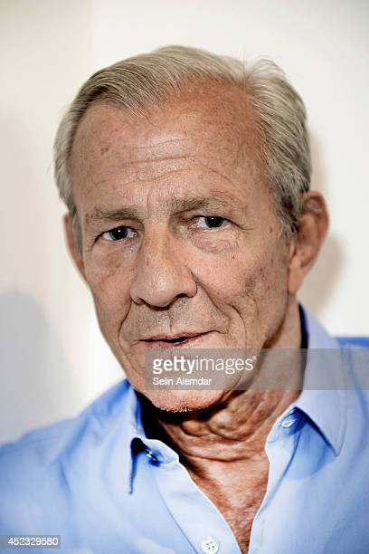 Photographer and artist Peter Beard is photographed on June 13 2014 in Istanbul Turkey