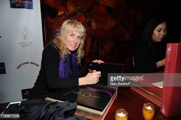 Photographer and author Lisa Johnson attends the book launch and performance for '108 Rock Star Guitars' benefitting The Les Paul Foundation at The...