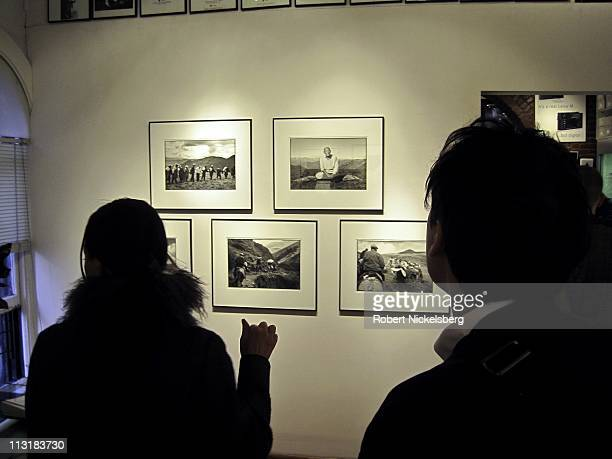 Photographer and Buddhist monk Nicholas Vreeland opens his show of photographs taken in Tibet on view at the Leica Gallery April 21, 2011 in New...