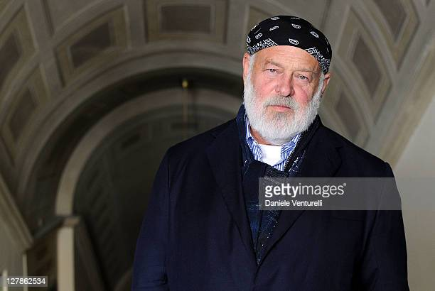 Photographer and Director Bruce Weber poses for a Portraits Sessions during Perugia International Film Festival Preview the on October 2 2011 in...