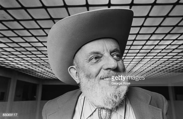 Photographer and environmentalist Ansel Adams poses during a 1980 Los Angeles California photo portrait session In 1980 Adams was awarded the...