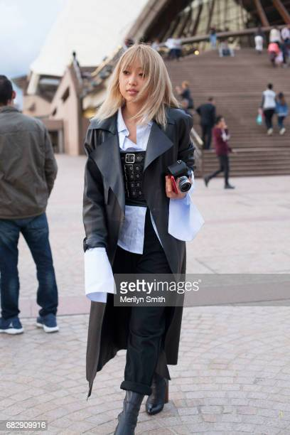 Photographer and Fashion Blogger Margaret Zhang at Sydney Opera House on May 14 2017 in Sydney Australia