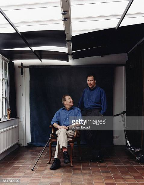 Photographer and film maker Lord Snowdon aka Antony Charles Robert ArmstrongJones with his son David Linley are photographed for Vogue magazine in...
