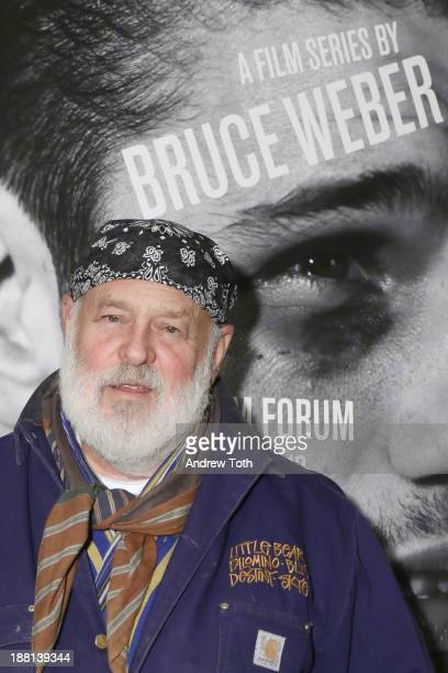 Photographer and filmmaker Bruce Weber attends the opening night of the Bruce Weber Retrospective opening night Film Forum on November 15 2013 in New...