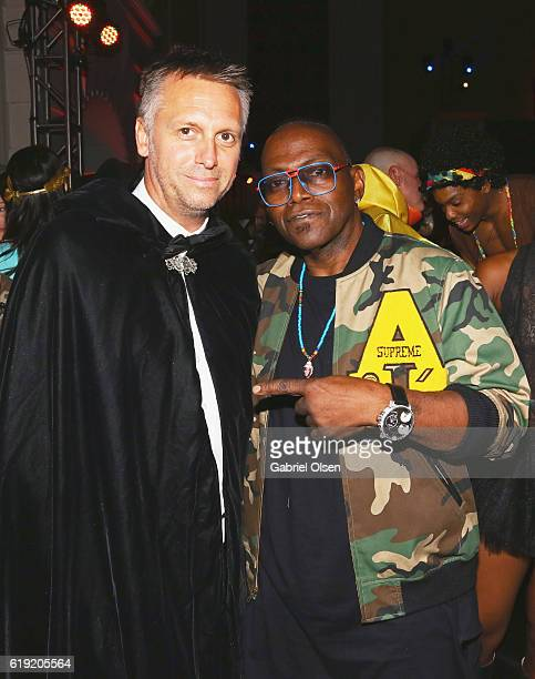 Photographer and founder of treats Steve Shaw and Musician Randy Jackson attend Trick or treats The 6th Annual treats Magazine Halloween Party...