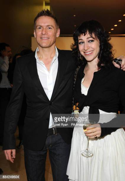 Photographer and Musician Bryan Adams with Annie Morris during a Private View of the Brilliant Women/Modern Muses at the National Portrait Gallery...