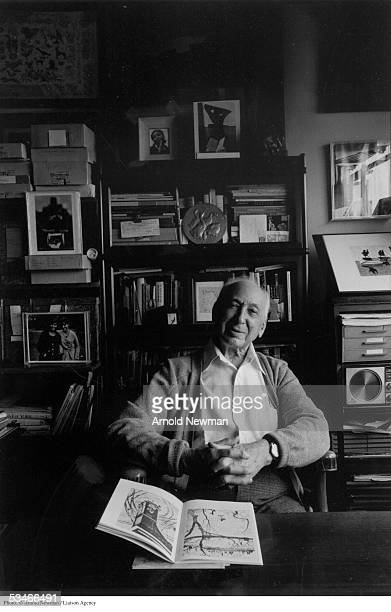 Photographer Andre Kertesz poses for photographer at his home January 15 1980 in New York City