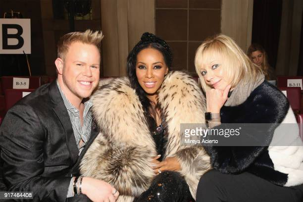 Photographer Andrew Werner stylist June Ambrose and executive fashion and beauty editor of Harpers Bazaar Avril Graham attend the Dennis Basso...