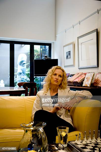 Photographer Anne Geddes poses for a portrait at her home on October 2 2007 in Auckland New Zealand