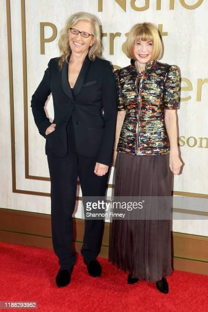 Photographer Annie Leibovitz and Vogue Magazine editor-in-chief Anna Wintour attend the 2019 American Portrait Gala at the Smithsonian National...