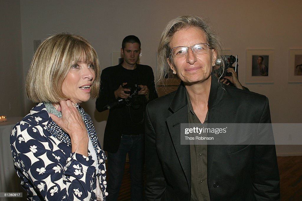 Photographer Annie Leibovitz (R) and Vogue Magazine editor-in-chief Anna Wintour attend the Ann Taylor 50th Anniversary Celebration With Vogue during the Olympus Fashion Week Spring 2005 September 9, 2004 in New York City.