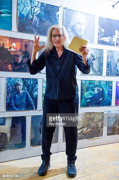 """Photographer Annie Leibovitz attends Annie Leibovitz's """"Women: New Portraits"""" Exhibition Opens In New York on November 15, 2016 at the former Bayview..."""