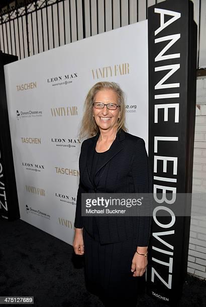 Photographer Annie Leibovitz attends The Annie Leibovitz SUMOSize Book Launch presented by Vanity Fair Leon Max and Benedikt Taschen during Vanity...