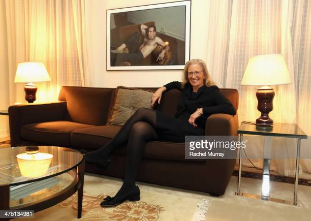 Photographer Annie Leibovitz attends The Annie Leibovitz SUMOSize Book Launch presented by Vanity Fair Leon Max and Benedikt Taschen during Vanity...