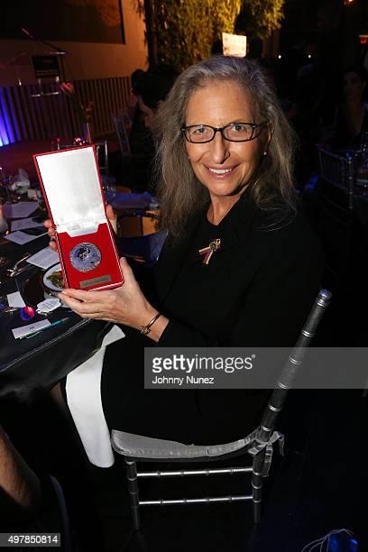 Photographer Annie Leibovitz is honored at VAEA's Annual Benefit Gala 2015 at David Rubenstein Atrium on November 18 in New York City