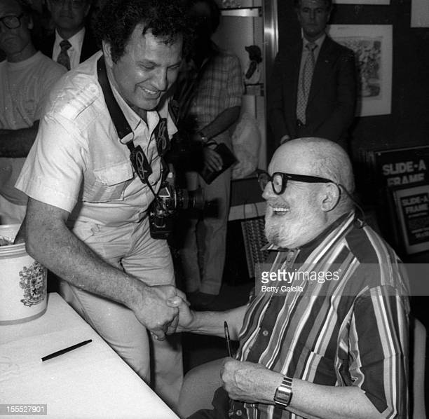 Photographer Ansel Adams attends the book signing by Ansel Adams on September 19 1979 at Brentano's in Beverly Hills California