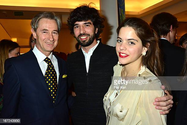 Photographer Aramy Machry Fernando Jorge and Alix Duvernoy attend the 'Le Bresil Rive Gauche' Exhibition At Le Bon Marche on April 22 2013 in Paris...