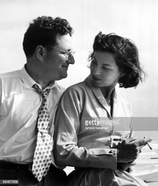 Photographer Arnold Newman and his wife Augusta on their honeymoon in 1949 in Miami Beach Florida