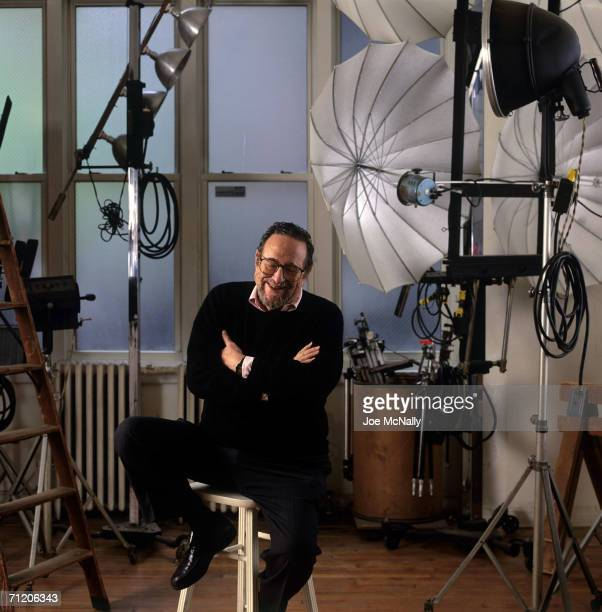 Photographer Arnold Newman poses for a photo on June 01 1992 in his New York City studio