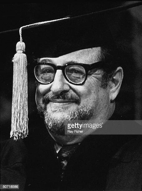 Photographer Arnold Newman receving honorary degree at the University of Miami