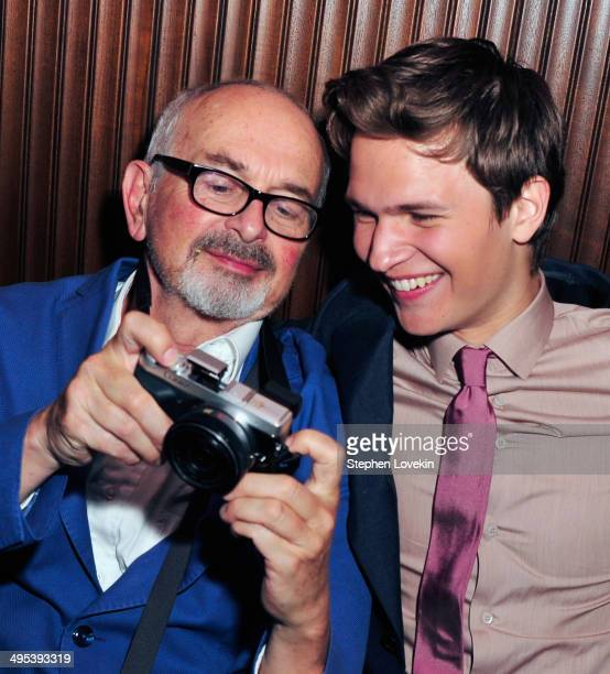 Photographer Arthur Elgort and actor Ansel Elgort attend The Fault In Our Stars premiere after party at The Royalton Hotel on June 2 2014 in New York...