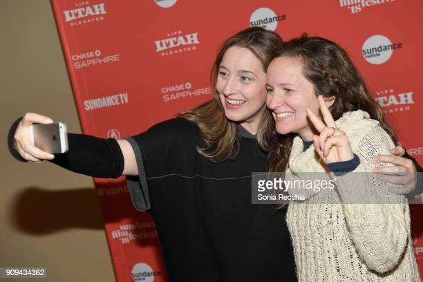 Photographer Ashly Covington and Additional Director of Photography Cat Deakins attends the 'Half The Picture' Premiere during the 2018 Sundance Film...