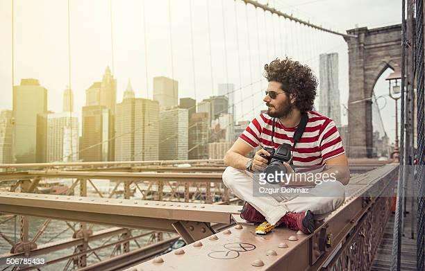 Photographer at Brooklyn Bridge