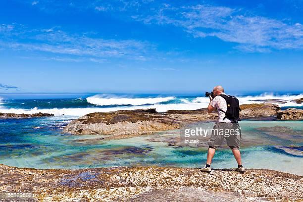 fotógrafo no litoral - izusek imagens e fotografias de stock