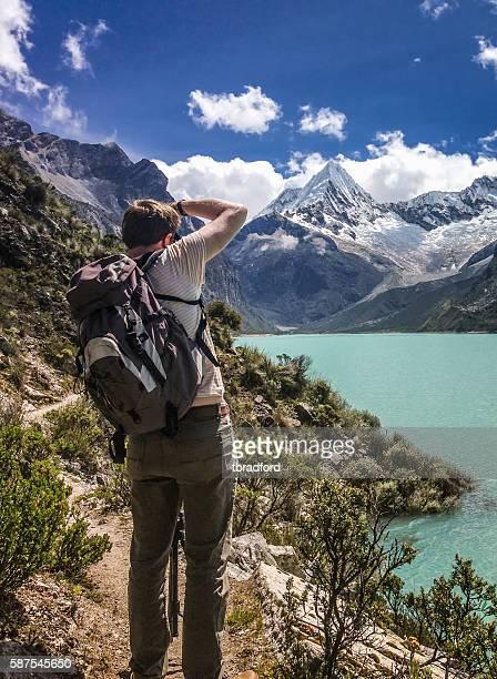 Photographer At Lake Paron In Peru
