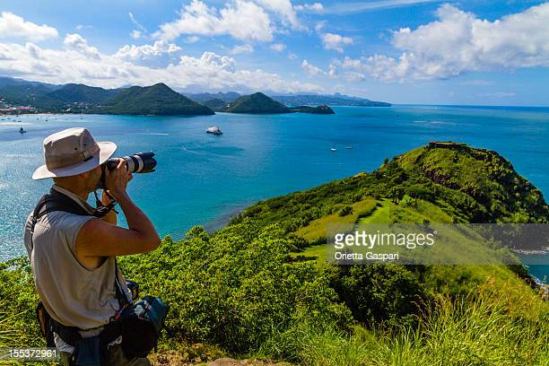 Photographer at Pigeon Island National Park, St. Lucia