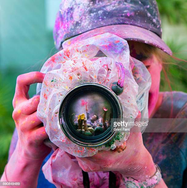 Photographer at religious event.